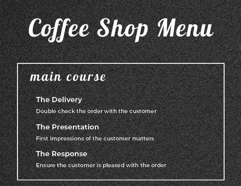 Coffee Menu_Main Course